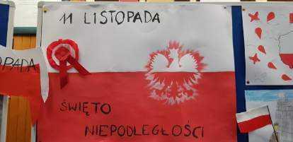 Flaga Polski wykonana z okazji Święta Niepodległości