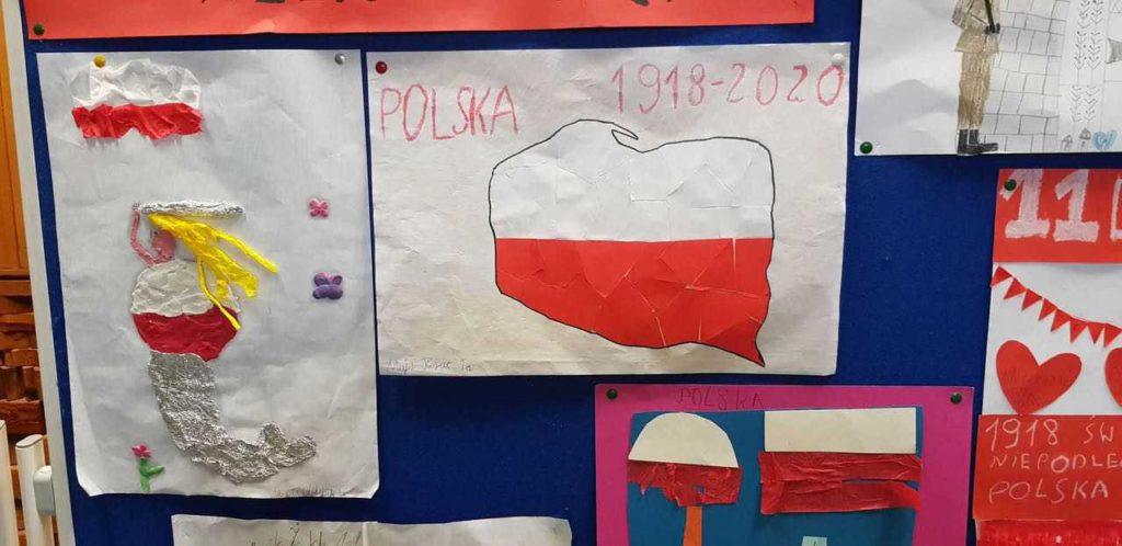 Syrenka w barwach narodowych, mapa Polski wykonane z okazji 11 listopada